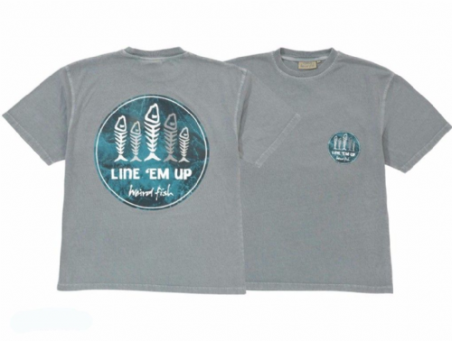 Weird Fish Line 'Em Up Printed T Shirt